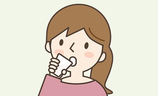 イラスト:消泡剤を飲みます